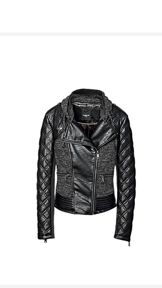 bebe black quilted knitwear