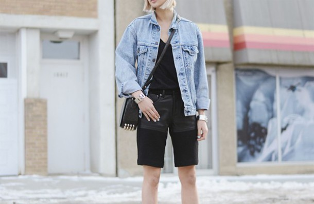 ordinary people jewels tank top jacket shorts bag shoes