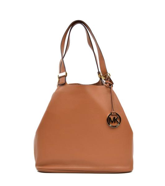 Michael michael kors brown leather colgate grab bag