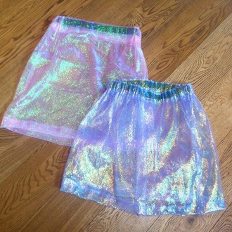 skirt shiny holographic retro grunge cyber cyber ghetto seapunk ghetto sheer transparent see through sparkle dressy kawaii cute skirt style skater skirt