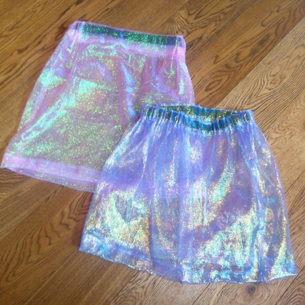 skirt shiny holographic retro grunge cyber cyber ghetto seapunk ghetto sheer transparent see through sparkle dressy