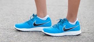 shoes nike shoes sportswear nike sneakers running shoes sporty blue blue shoes blue sneakers