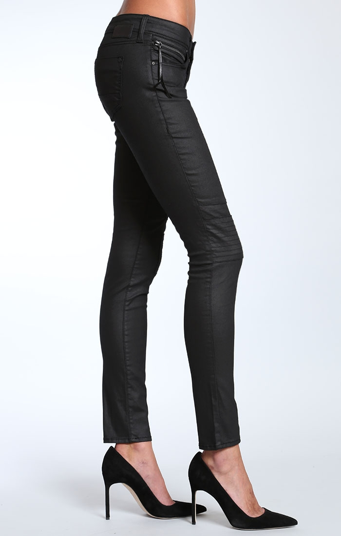 Patrice zip skinny in black jeather in women featured new arrivals at mavi