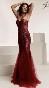 dress,debs dress,prom dress,burgundy