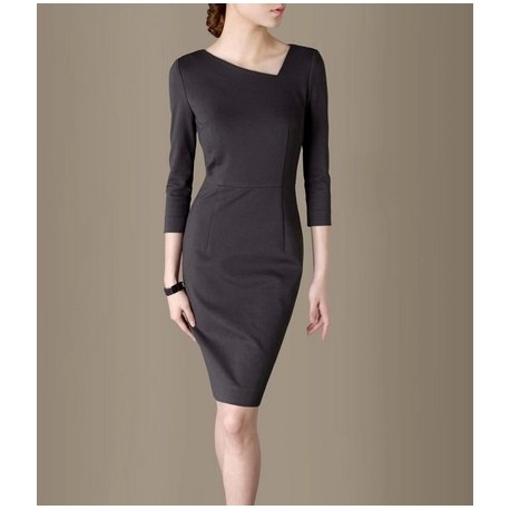 Grey Elegant Noble Summer OL Slim Women Fashion Dress lml7022 - ott-123 - Global Online Shopping for Dresses