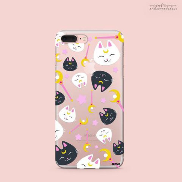 Milkyway Cases CLEAR TPU CASE COVER - SAILOR KITTY
