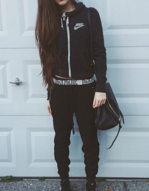bag jacket nike pink mac cosmetics tumblr tumblr outfit tumblr girl cute summer