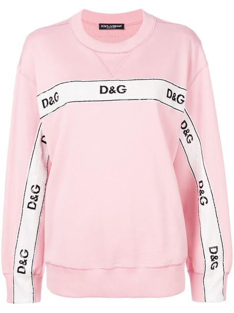 Dolce & Gabbana sweatshirt women cotton purple pink sweater