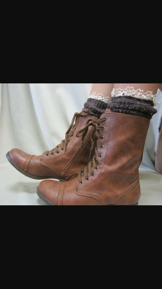 shoes combat boots brown lace up boots brown combat boots