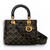 Supple lady dior bag in studded black lambskin - Dior