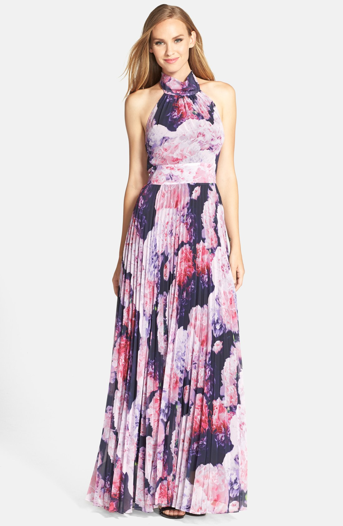 Eliza J Floral Chiffon Maxi Dress (Regular & Petite) | Nordstrom