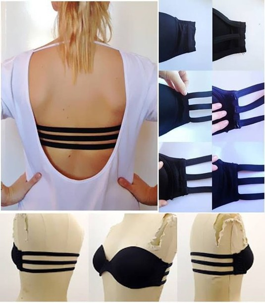 underwear black black underwear straps bra swimwear bandeau bikini black bra strappy bikini strappy bra