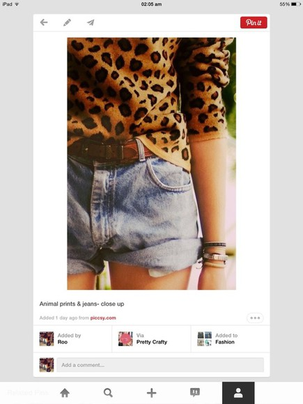 leopard print sweater wool sweater,