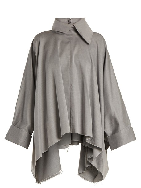 MARQUES ALMEIDA shirt oversized cotton light grey top