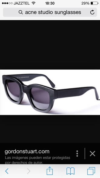 sunglasses glasses black style fashion cool indie hipster acne studios