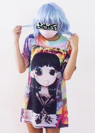 t-shirt omocat kawaii kawaii grunge kawaii graphic graphic tee kawaii shoes mask pale grunge