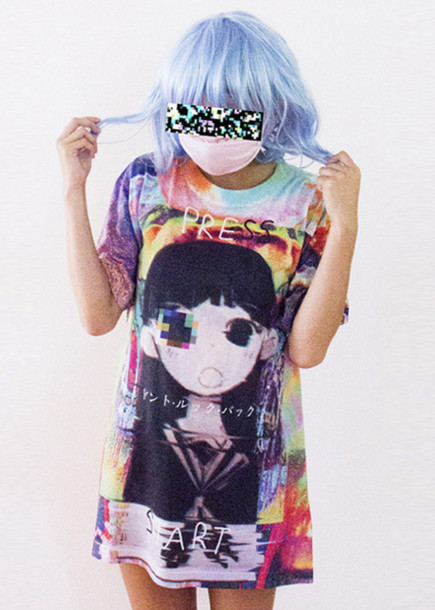 t-shirt omocat kawaii kawaii grunge kawaii graphic graphic tee kawaii shoes mask pale grunge