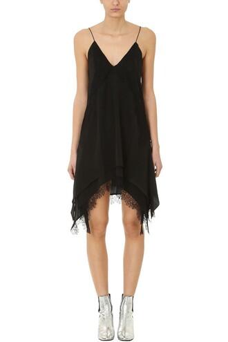 dress silk dress black silk