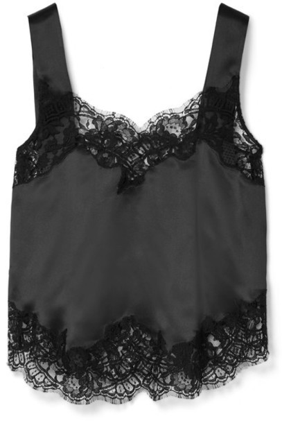 camisole lace cotton black silk underwear