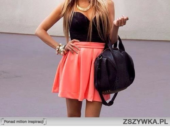 skirt circle skirt peach skirt high waisted skirt tank top