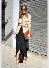 shirt,olivia palermo,jacket,blouse,skirt