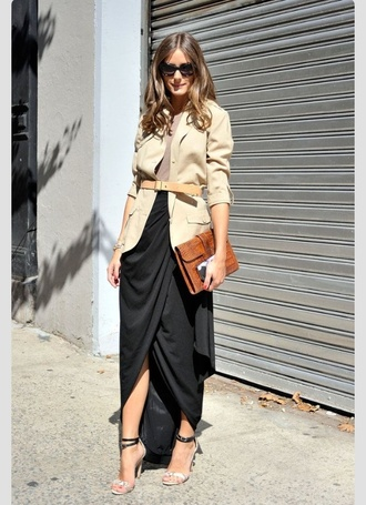 shirt olivia palermo jacket blouse skirt