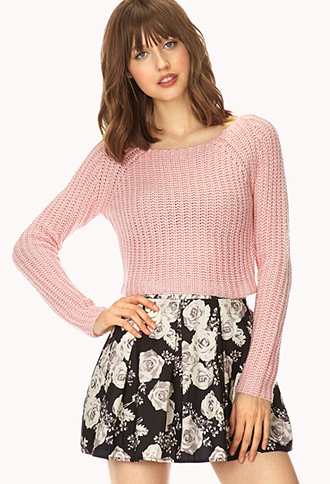 Candy-Coated Open-Knit Sweater | FOREVER21 - 2000088089