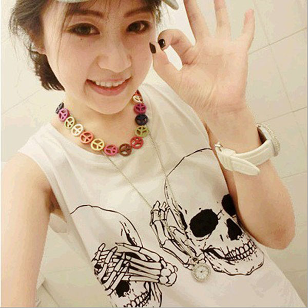 2013 High Quality Skull Heads Printed Cotton T shirt Sleeveless Round Neck Fashion Tank Tops-in Tank Tops from Apparel & Accessories on Aliexpress.com | Alibaba Group
