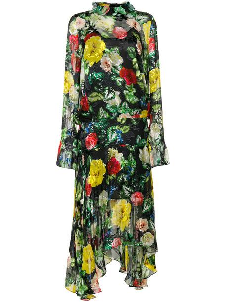 PREEN BY THORNTON BREGAZZI dress women black silk