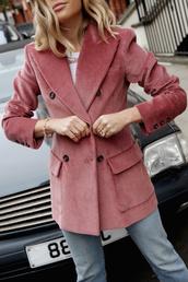 jacket,tumblr,blazer,pink blazer,corduroy,ring,bracelets,jewels,jewelry,accessories,Accessory