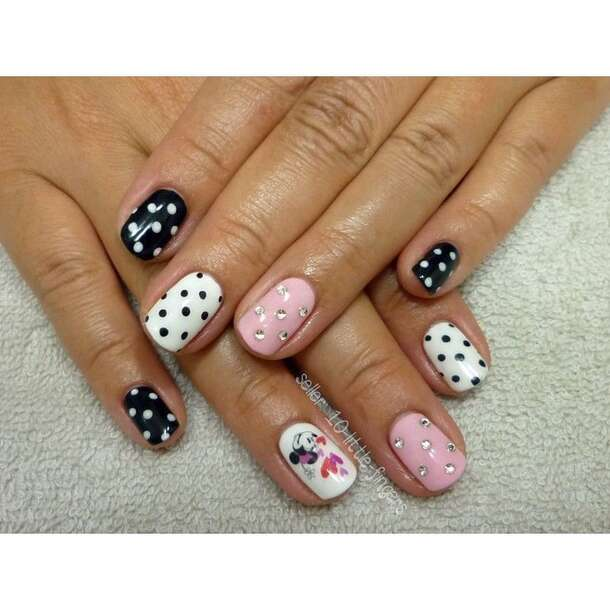 nail accessories, decoration, decals, stickers, mickey mouse, minnie ...