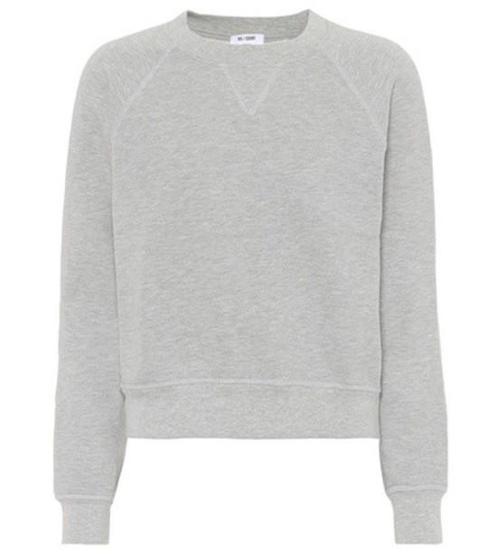 Re/Done sweatshirt crewneck sweatshirt classic grey sweater