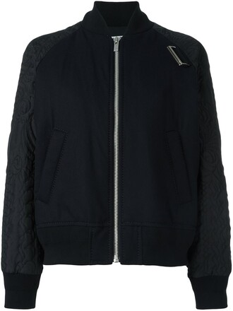 jacket bomber jacket women quilted cotton black wool