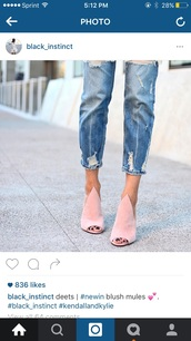 shoes,kendall + kylie label,blush pink