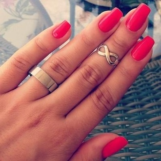 jewels knuckle ring infinity infinity ring silver ring normal ring