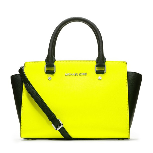 59b18a60c473 ... authentic bag michael by michael kors yellow medium selma saffiano  satchel d1281 d8381