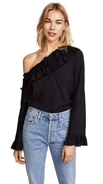Paige blouse black top