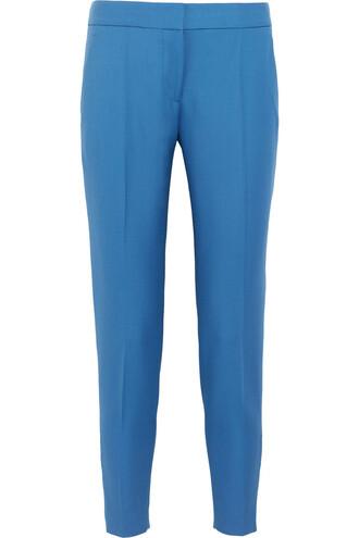 pants wool light blue light blue