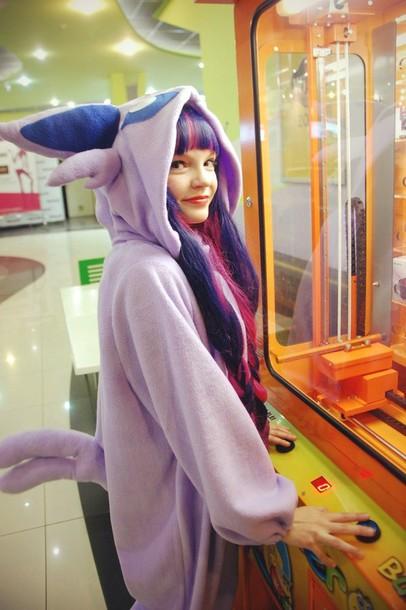 pajamas kigurumi onesie espeon eeveelution psychic pokemon eevee lgbt