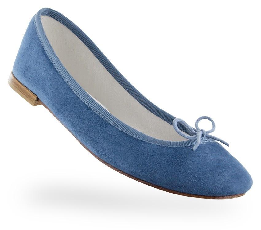 Ballerina Cendrillon - Goatskin suede     Blue Celeste  - Repetto