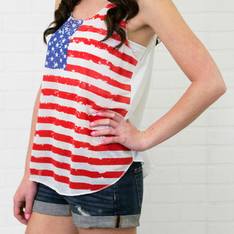 tank top meric america flag american flag amazinglace amazinglace.com red white and blue