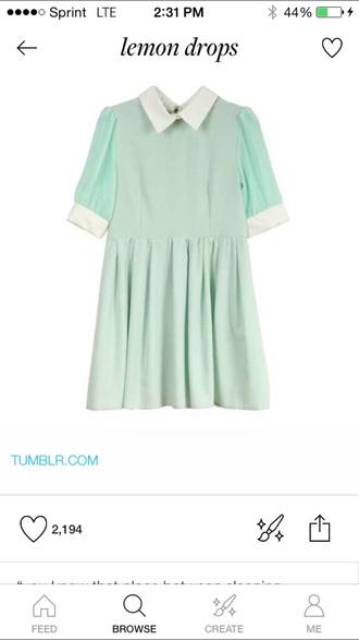 dress pastel clothes mint green