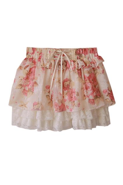 Lace flower skirt [ncstx0016]
