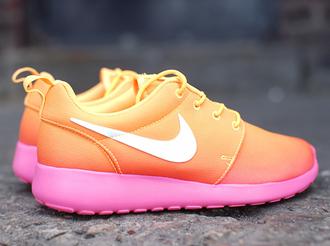 shoes nike nike roshe run nike running shoes pink shoes running shoes