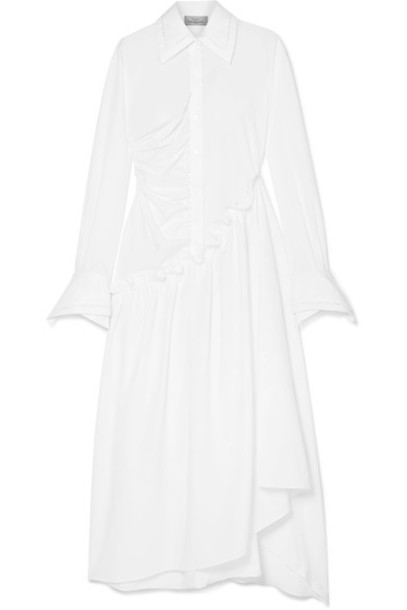 PREEN BY THORNTON BREGAZZI dress midi dress midi white cotton