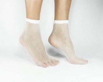socks white socks cute socks mesh