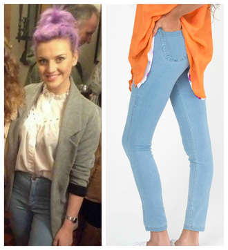 shirt jacket stylish love perrie edwards jeans