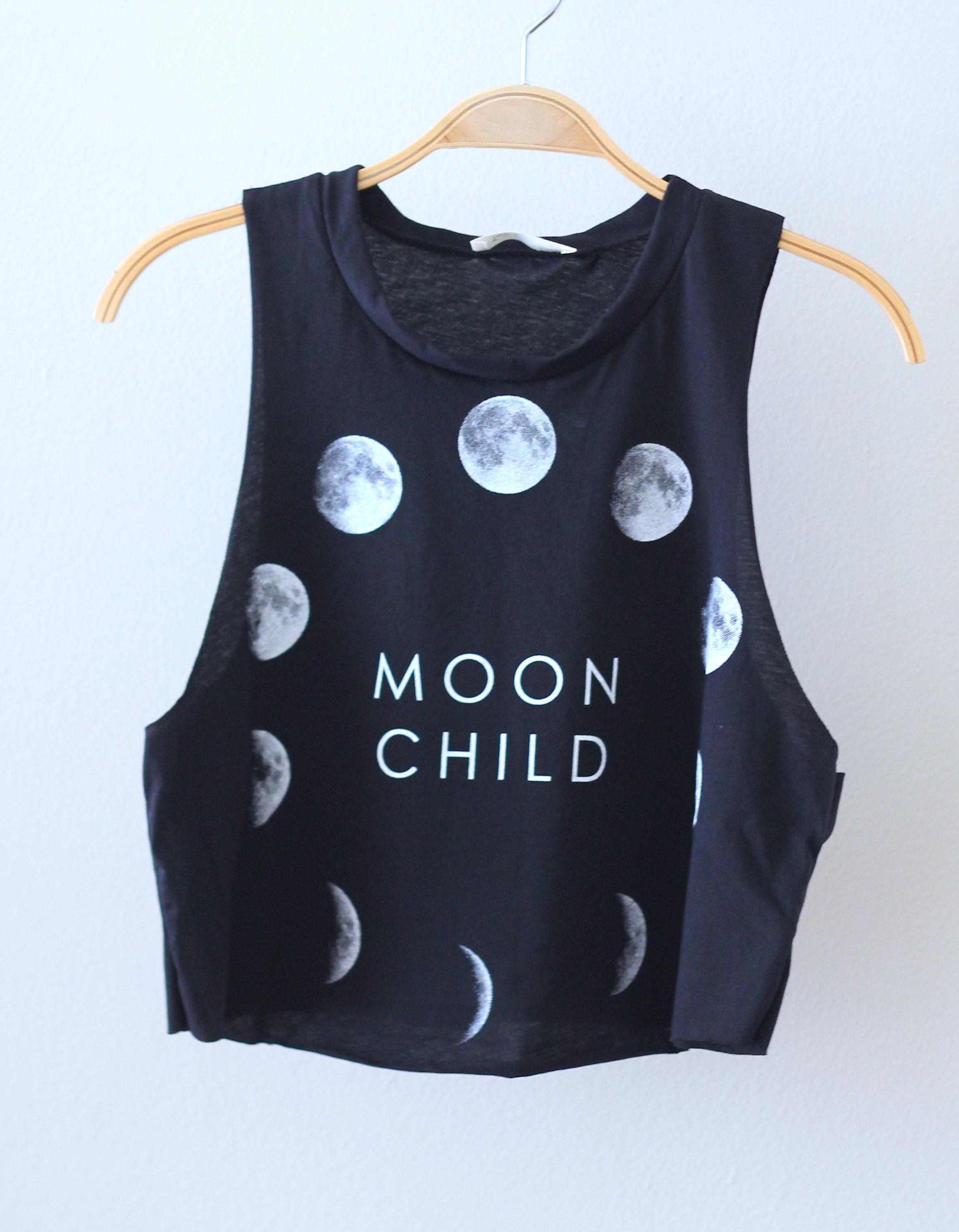 Moon Baby Crop Top Tee Shirt
