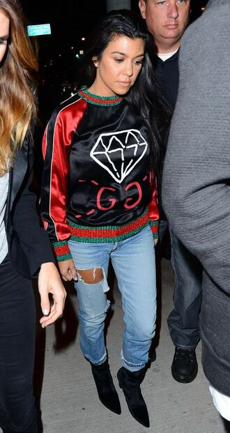 sweater sweatshirt jeans kourtney kardashian kardashians fall outfits
