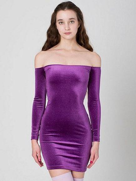purple dress velvet